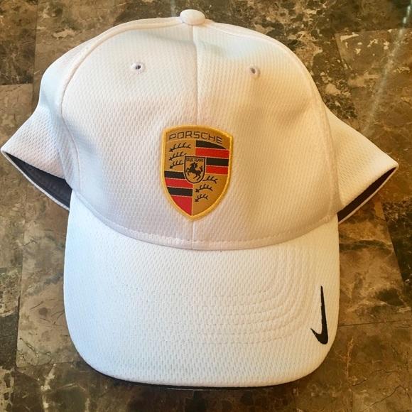 Porsche Hat White With Crest